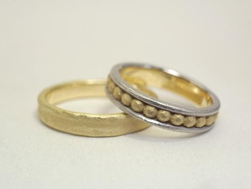 個性的な結婚指輪のアレンジ(3連風にアレンジ) 04