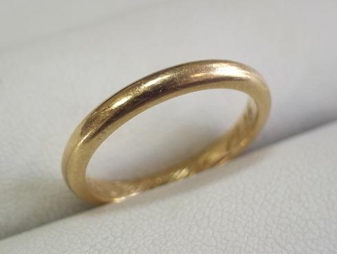 70年前の結婚指輪のサイズ直し 01