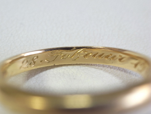 70年前の結婚指輪のサイズ直し 02