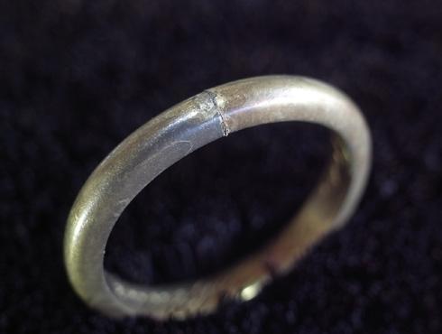 70年前の結婚指輪のサイズ直し 05