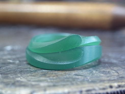セットにするとハート柄が現れる結婚指輪 ワックス