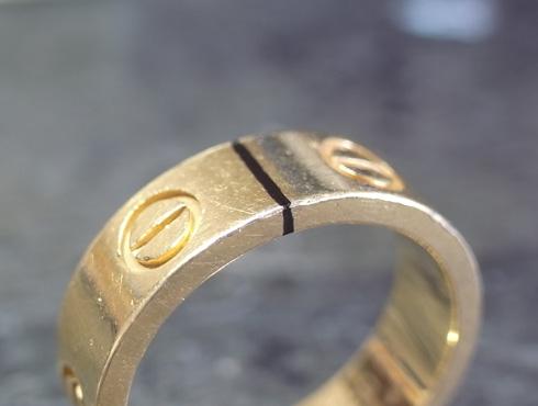 カルティエ ラブリング(ゴールド)サイズ直し 01