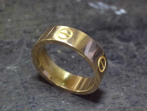 カルティエ ラブリング(ゴールド)サイズ直し 06