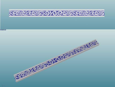 唐草模様の指輪のCAD画像