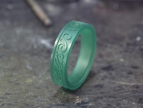 唐草模様の指輪のワックス