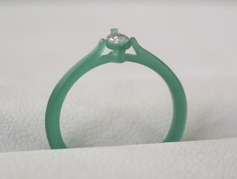 マーキスカット ピンクダイヤの婚約指輪 ワックス