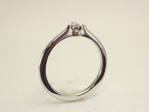 マーキスカット ピンクダイヤの婚約指輪 02
