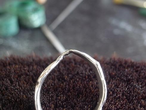 俄の結婚指輪を変形直し、サイズ直し 03