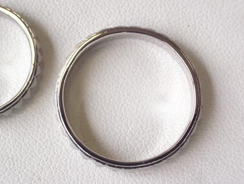 ピラミッドスタッズ柄 結婚指輪の変形直しと新品加工07