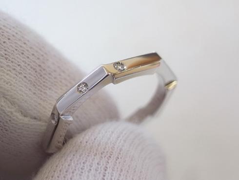 グッチの結婚指輪(LINK TO LOVE ) 新品加工08