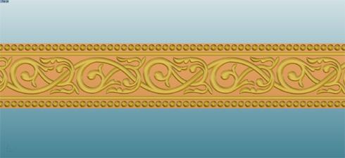 アンティーク調(唐草、ミル打ち)の結婚指輪 デザイン画 02