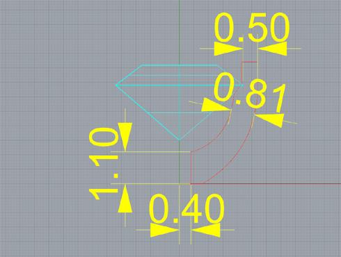 CAD(ライノセラス)で石枠データ作成 05