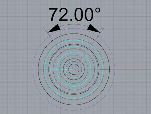 CAD(ライノセラス)で石枠データ作成 10