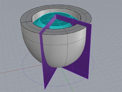 CAD(ライノセラス)で石枠データ作成 12