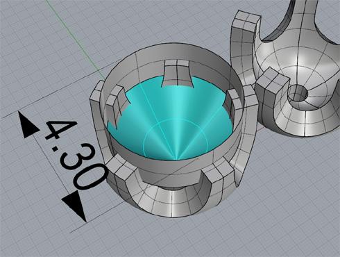 CAD(ライノセラス)で石枠データ作成 25