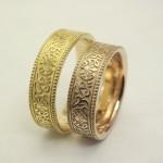 アンティーク調の結婚指輪(ピンクゴールド)