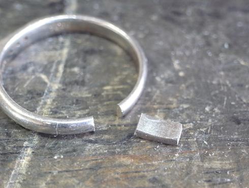 消防署で切ってもらった結婚指輪の修理とサイズ直し06