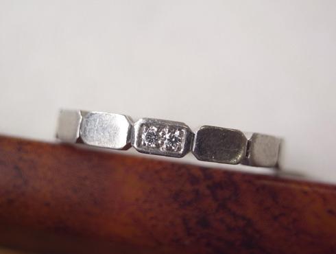 シャネルの結婚指輪のサイズ直しと修理 01