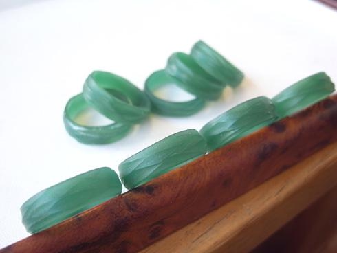 手作り感のある結婚指輪のワックスたち