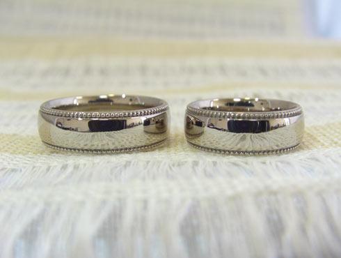 ワックスでミル打ちをした結婚指輪 02