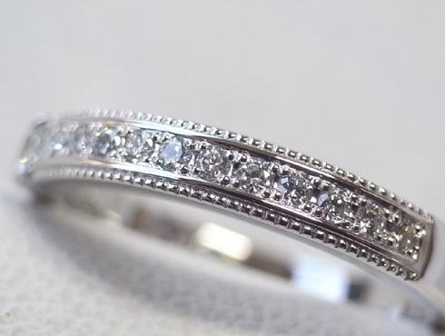 ワックスを工夫して新しい石留めする指輪