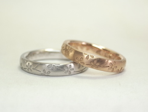 桜の結婚指輪 01