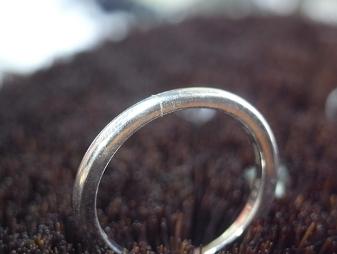 俄の結婚指輪、婚約指輪のサイズ直し 05
