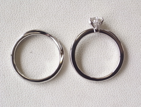 俄の結婚指輪、婚約指輪のサイズ直し 15