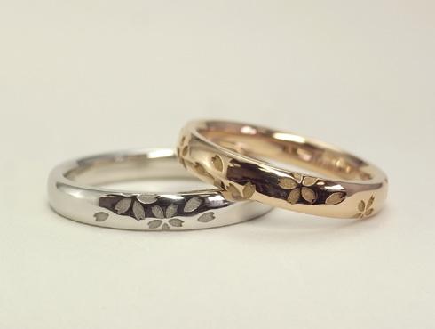 桜の結婚指輪 磨きで仕上げる
