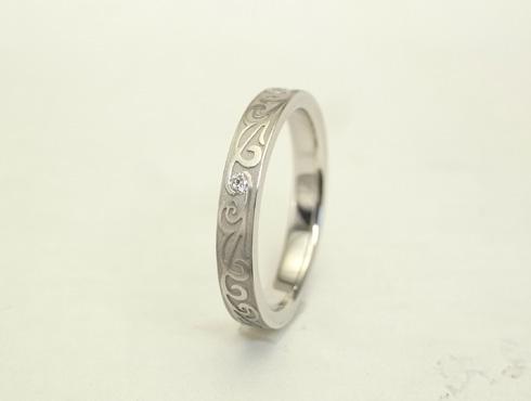 唐草模様の指輪 セミオーダー01