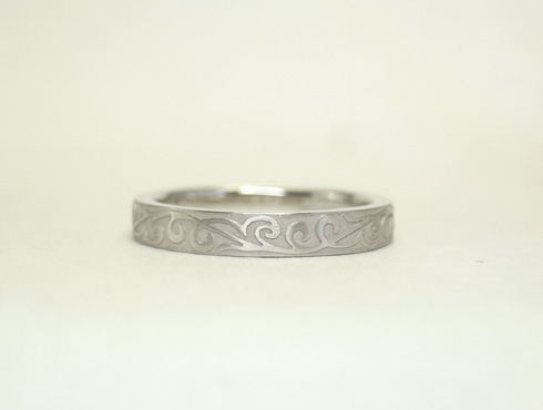唐草模様の指輪 セミオーダー02