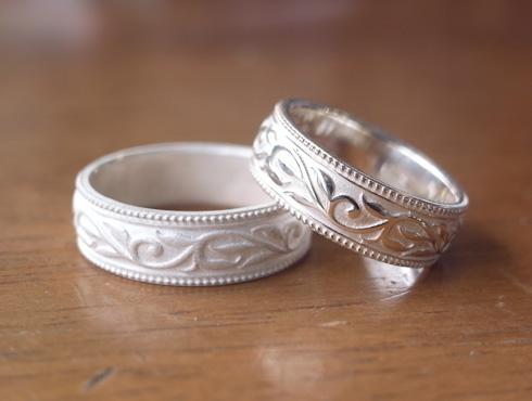 唐草(ツタ)の結婚指輪 02