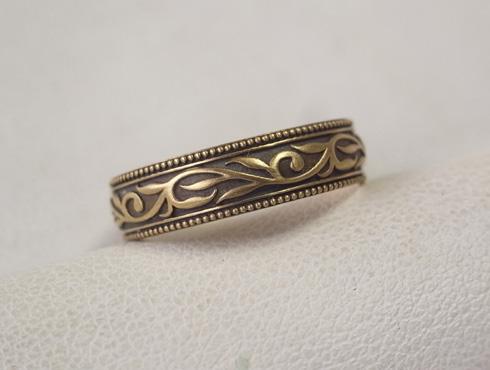 オリジナルの結婚指輪(唐草模様) 04