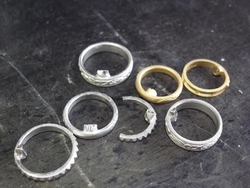 唐草(ツタ)の結婚指輪のキャスト上がり 01