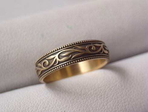 オリジナルの結婚指輪(唐草模様) 05