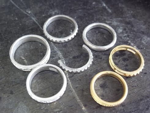 唐草(ツタ)の結婚指輪のキャスト上がり 02