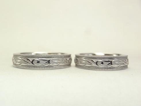 唐草(ツタ)の結婚指輪 03