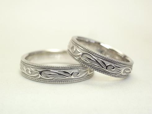 唐草(ツタ)の結婚指輪 05