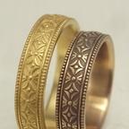 吉祥文様の結婚指輪(七宝柄)