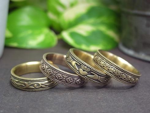 アンティーク風の結婚指輪(パルメット文様) 01