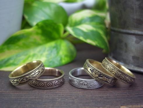 縁起の良い柄の結婚指輪 七宝柄 吉祥文様 01