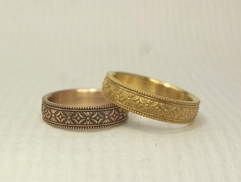 縁起の良い柄の結婚指輪 七宝柄 吉祥文様 04