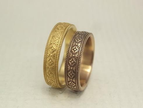 縁起の良い柄の結婚指輪 七宝柄 吉祥文様 05
