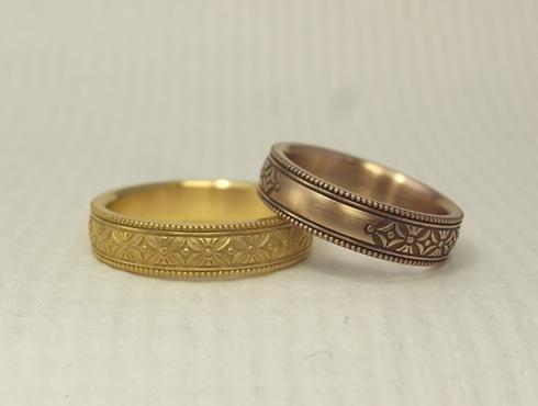 縁起の良い柄の結婚指輪 七宝柄 吉祥文様 06
