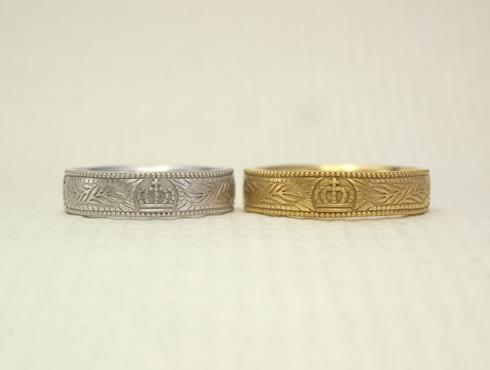王冠(クラウン)の結婚指輪 02