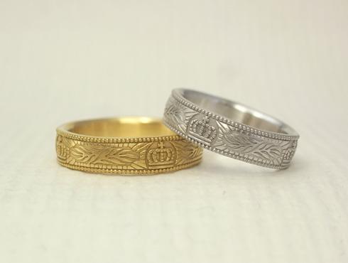 王冠(クラウン)の結婚指輪 03