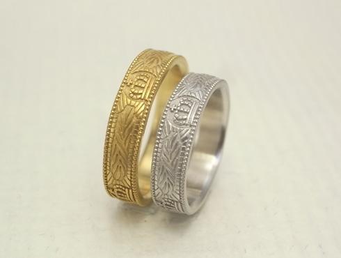 王冠(クラウン)の結婚指輪 04