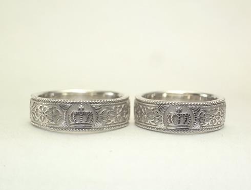 王冠(クラウン)の結婚指輪 05
