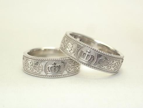 王冠(クラウン)の結婚指輪 06