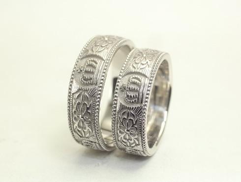 王冠(クラウン)の結婚指輪 07